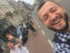 Clare & the Netherlands Team - Cycling in style to a client meeting