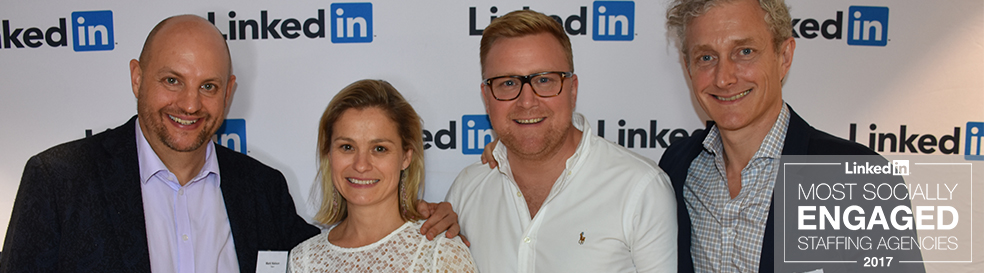 Talent awarded LinkedIn's 'Most Socially Engaged Staffing Agency' of the year!