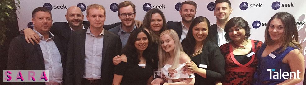 Talent NZ taking out the SEEK SARA award 'Medium Recruitment Agency' for the fourth year in a row!